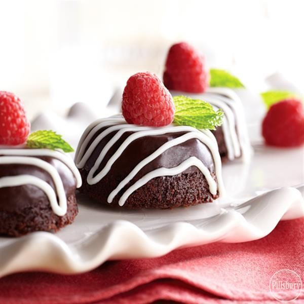 Raspberry Ganache Brownie Bites from Pillsbury are a mini bite-sized treat to share with your Valentine.