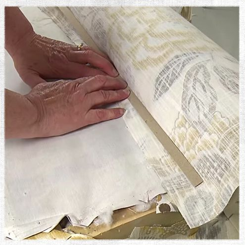 Tack strips are the secret to clean, crisp lines in upholstery projects. This is a handy guide on how to use them.