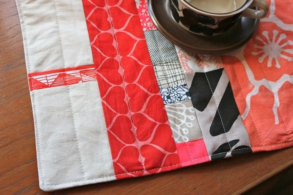 Instructions from Nest Studio for sewing scraps placemats