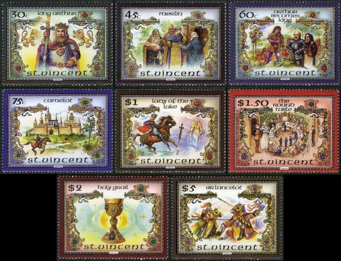 1986 Legend of King Arthur Stamps