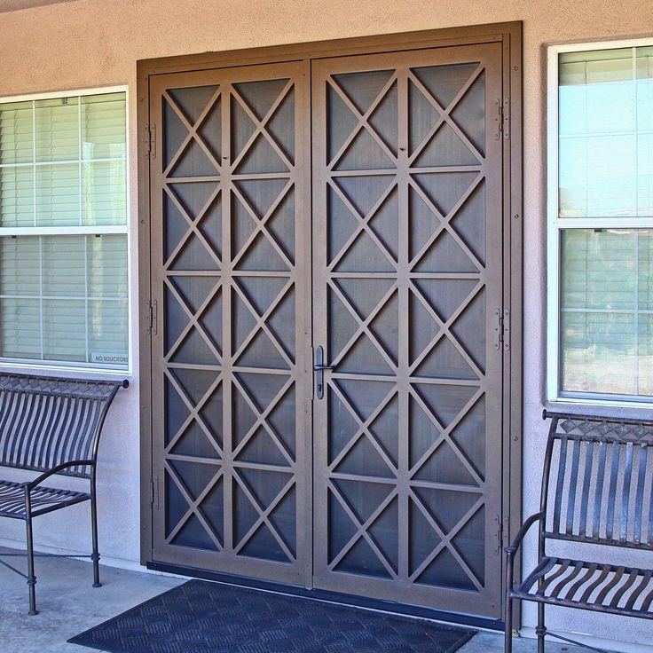 Used Iron Door Grill Designs Interior Wrought Iron Door: 25+ Best Ideas About Window Security On Pinterest