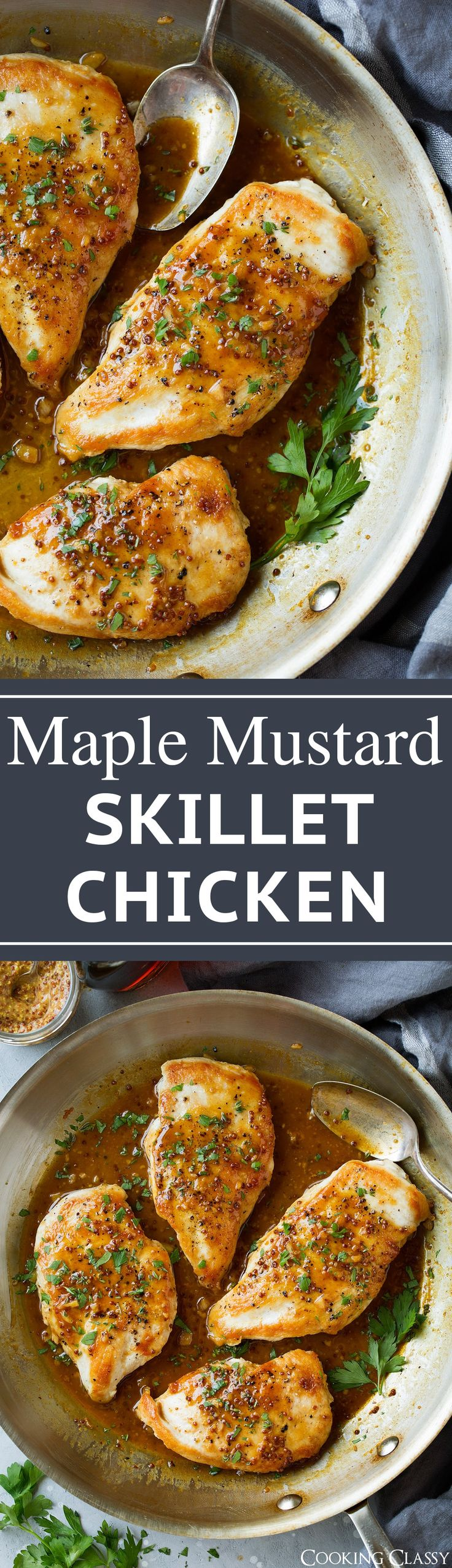 Maple-Mustard Skillet Chicken