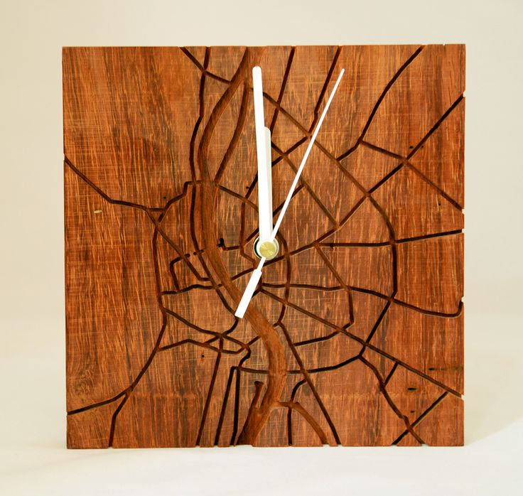 Budapest Wooden Clock by Ignoto http://www.magma.hu/muveszek.php?id=111