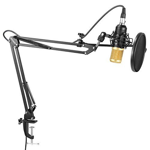 Neewer NW-8000 Professional Studio Condenser Microphone and Adjustable Suspension Scissor Arm Stand with Shock Mount, Pop Filter and Table Mounting Clamp Kit for Broadcasting and Sound Recording #Neewer #Professional #Studio #Condenser #Microphone #Adjustable #Suspension #Scissor #Stand #with #Shock #Mount, #Filter #Table #Mounting #Clamp #Broadcasting #Sound #Recording
