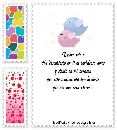 descargar frases de amor para mi enamorada,textos bonitos de amor para enviar a mi novia por whatsapp : http://www.consejosgratis.es/mensajes-de-amor/