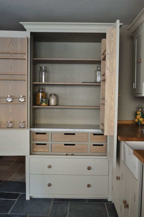 Custom Kitchen Pantry Millwork W Drawers On Lower Portion