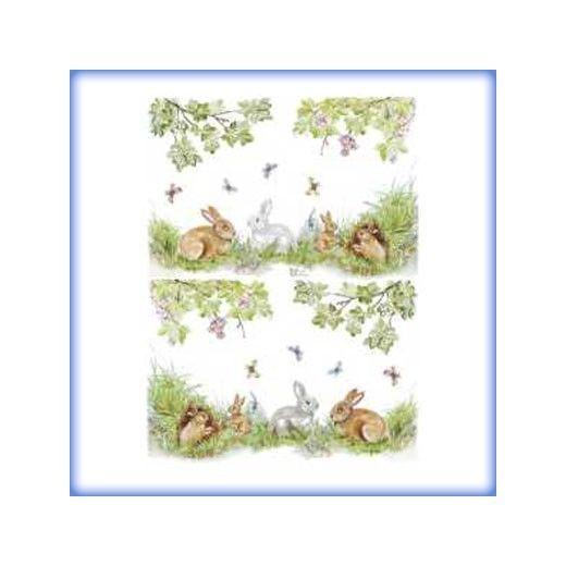 carta da decoupage cm 30x42 conigli piccoli