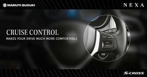 The electronic control system lets you select any preferred cruising speed above 40 kmph. ‪#‎SCross‬