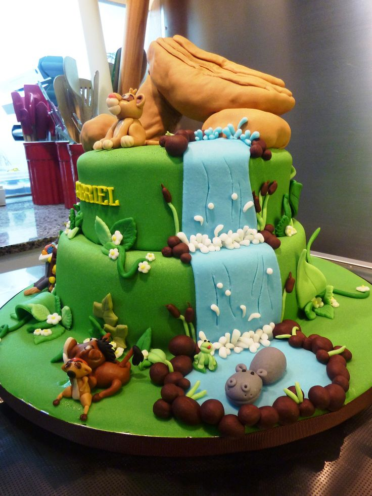 Lion King Cake Fondant Cake Ideas Pinterest