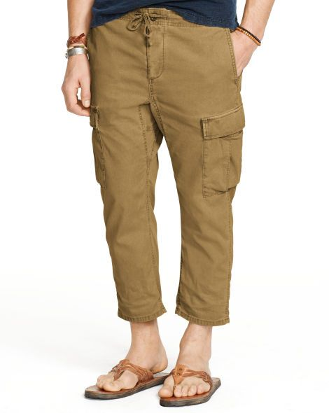 Relaxed-Fit Cropped Cargo Pant - Denim & Supply  Pants - RalphLauren.com