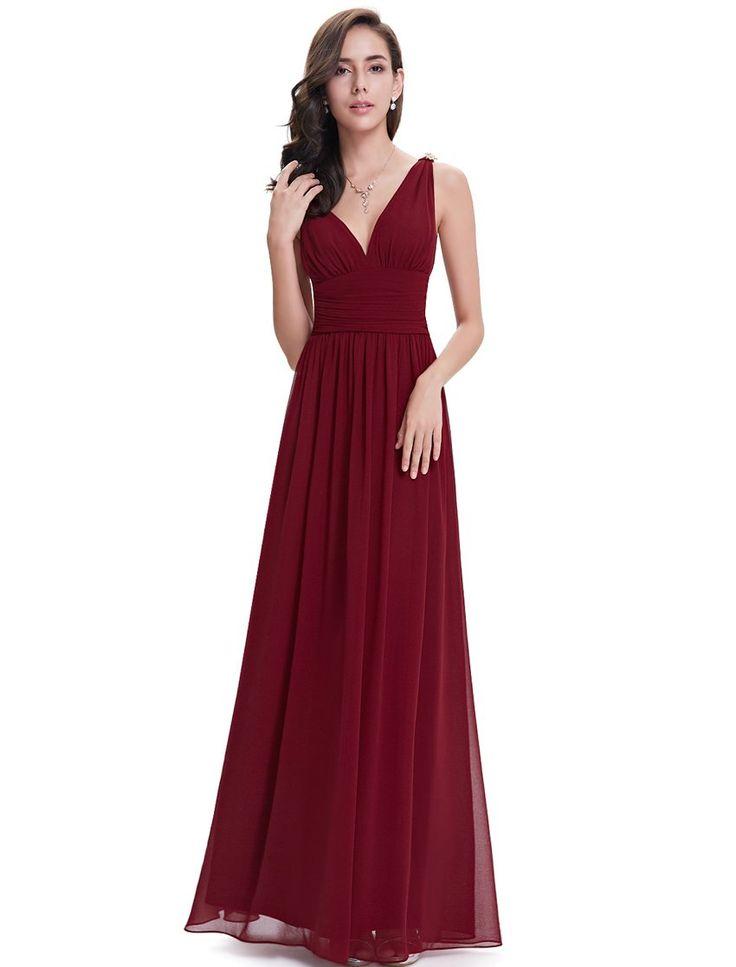 Ever Pretty Womens Floor Length Semi Formal Burgundy ...