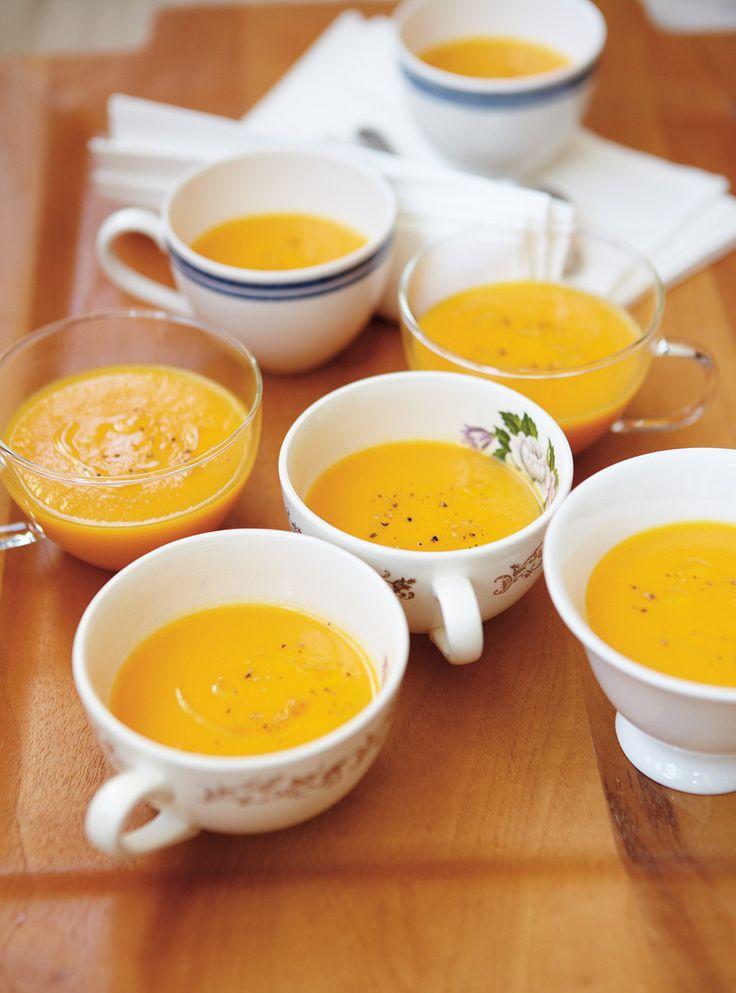 Recette de Ricardo de crème de rutabaga et carottes à l'érable