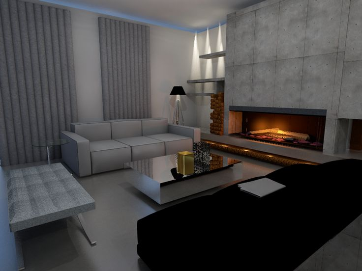 Rendering of a modern chic residence in Porto Heli Greece.