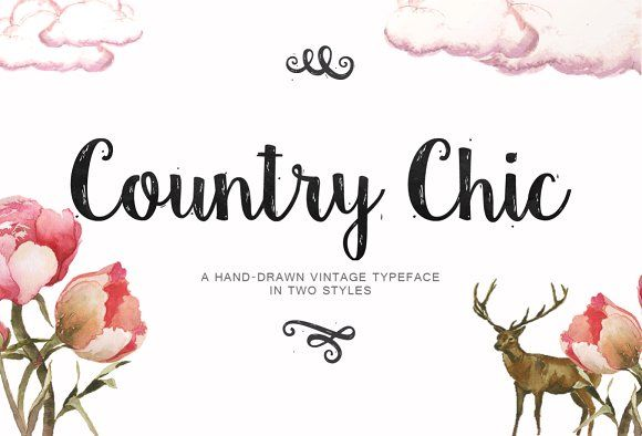 Country Chic Script by Emily Spadoni on @creativemarket