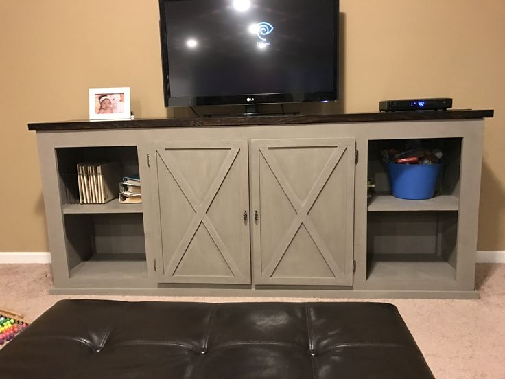 Ana White   My first build!! - DIY Projects entertainment stand