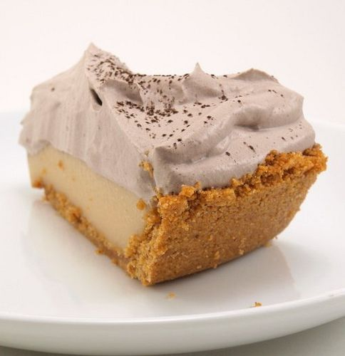 Peanut Butter Cream Pie with Chocolate Whipped Cream