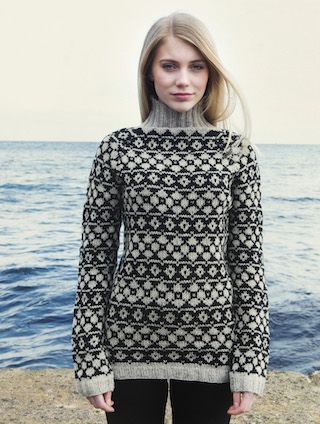 The Island Wool Company- Faroese By Design - Nordic By Nature - Navia Patterned Jumper