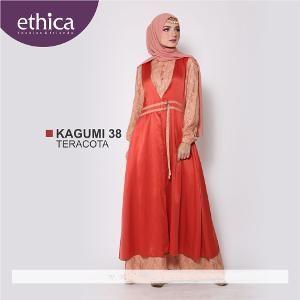 Baju Gamis Muslim Wanita Kagumi 38 Teracota - Size L - SALE