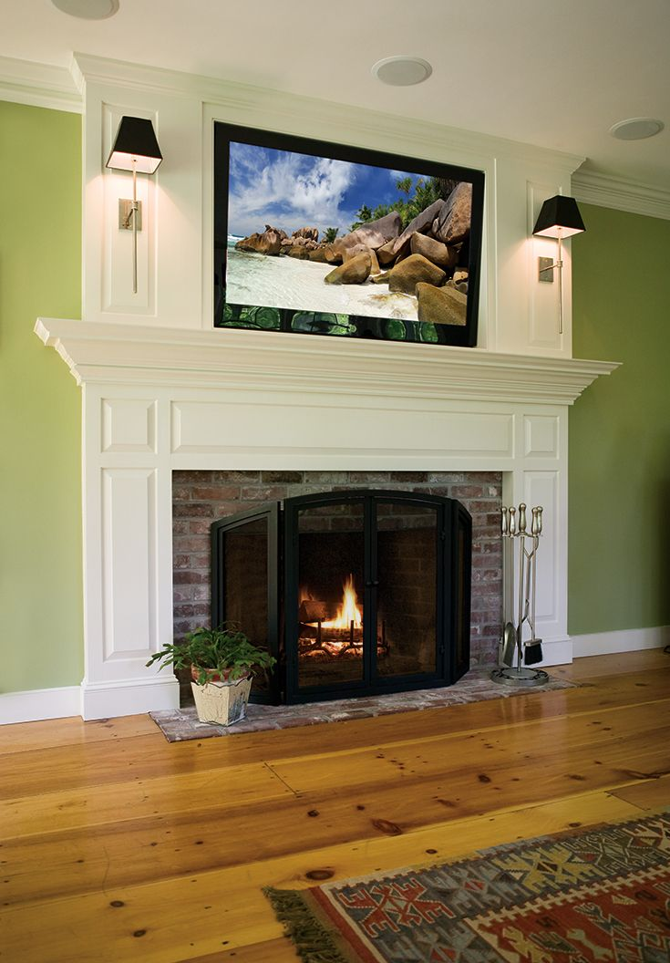 Best 25 tv above fireplace ideas on pinterest tv above for Tv over fireplace