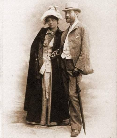 Fotografi 1889 forlovelse imellem Søren  (P.S. Krøyer) og Marie.