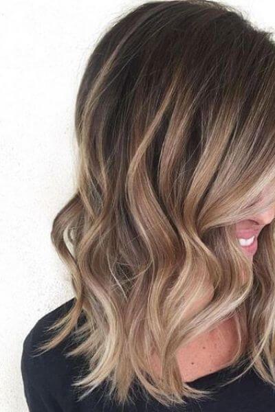 Light Caramel Sombre for Dark Hair