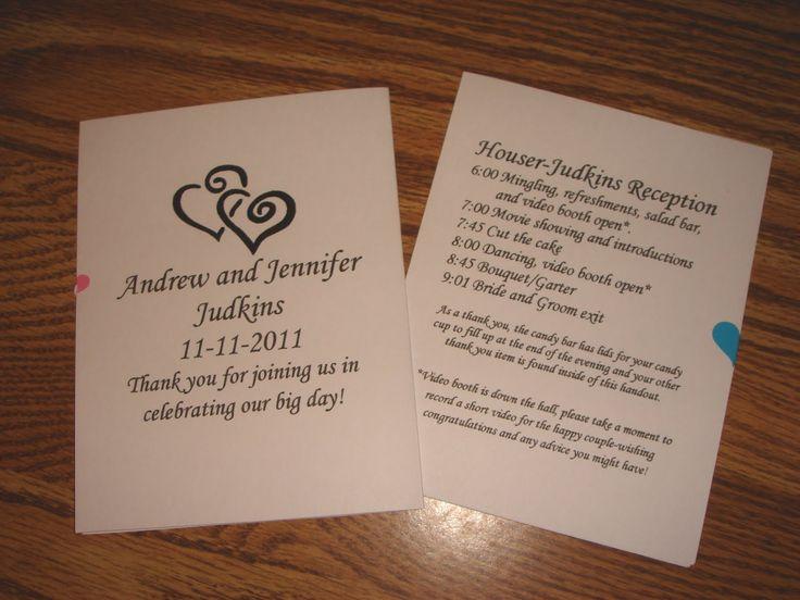 Free printable wedding programs templates diy weddingreception programs printable wedding for Wedding reception program template free