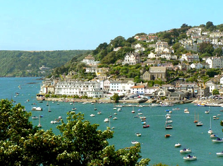 Salcombe harbor - viewed from East Porthmouth England