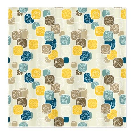 Beautiful Yellow And Blue Shower Curtain Images - 3D house designs ...