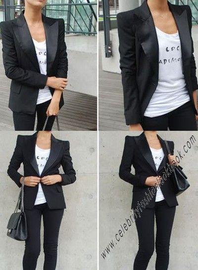 Strong Shoulder Blazer http://celebrityfashionlookbook.com/bb3-strong-shoulder-blazer-7013.html #streetstyle #pretty