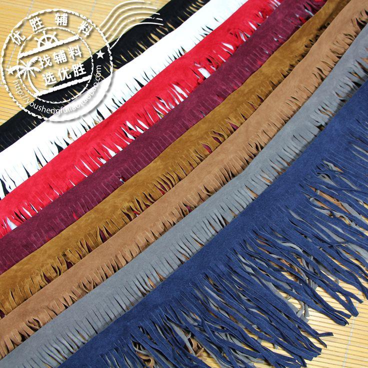 5yds 15 cm lange suede kunstleer zachte tassel fringe trim afrikaanse kant naaien kledingstuk jurk kleding bag schoen decoratie accessoires in materiaal: zachte sude kwastje franje trimmen kantbreedte: over 14-15cmkleur: als beeld tonenvoorraad: 500 meterdetail v van kant op AliExpress.com | Alibaba Groep