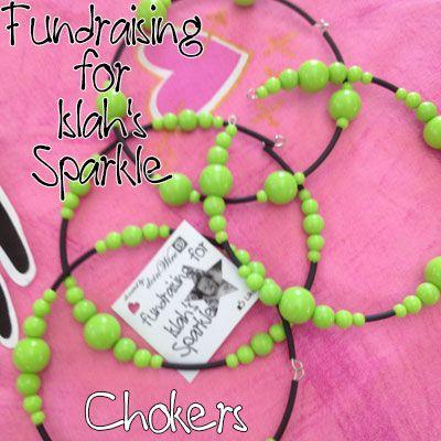 IslahsSparkle Memory Wire Chokers Green beads https://www.facebook.com/IslahsSparkle