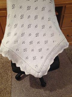 Beautiful baby shawl.