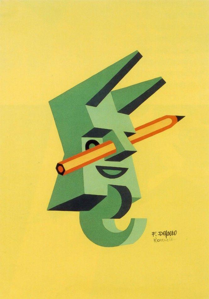Le matite di Fortunato Depero
