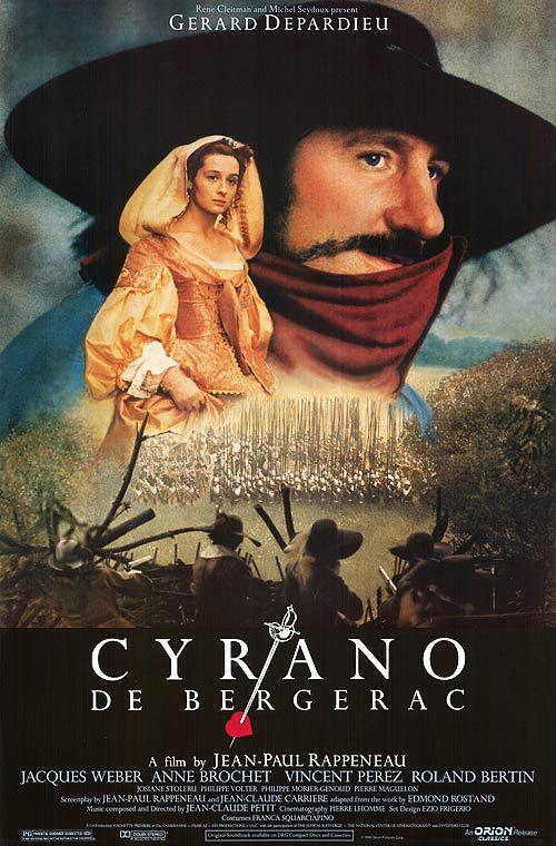 Cyrano de Bergerac (1990 film version) Gérard Depardieu est brillantisme dans son interprétation de Cyrano. Un chef d'oeuvre à voir et à revoir.