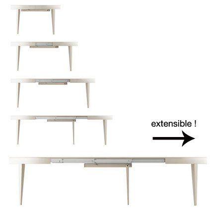 table extensible ronde rabattable meuble de salon contemporain. Black Bedroom Furniture Sets. Home Design Ideas