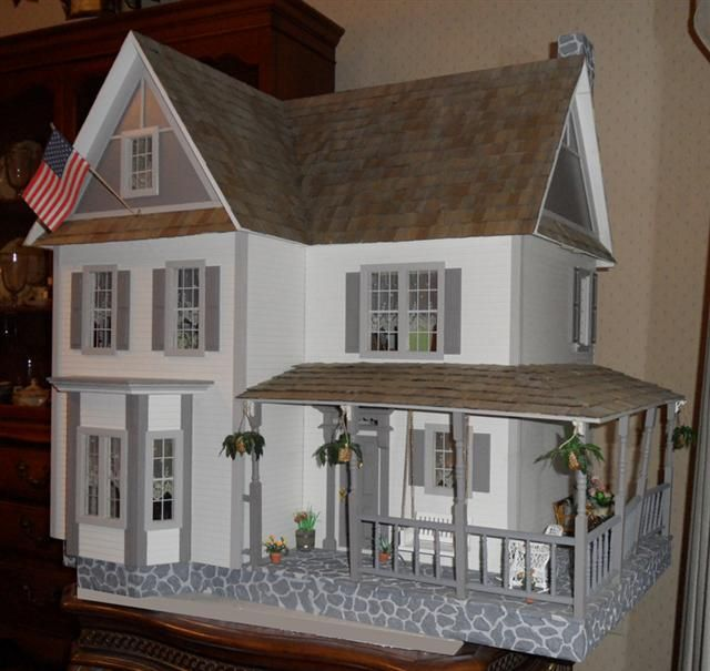 Yes it's a doll house, but it's very close to our house in it's design and layout. Porch might be a good idea for layout.