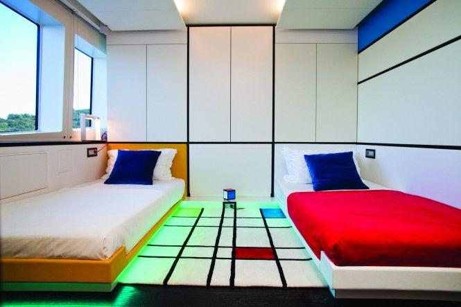 Super Yacht JOYME Mondrian cabin - Interior by Marijana Radovic