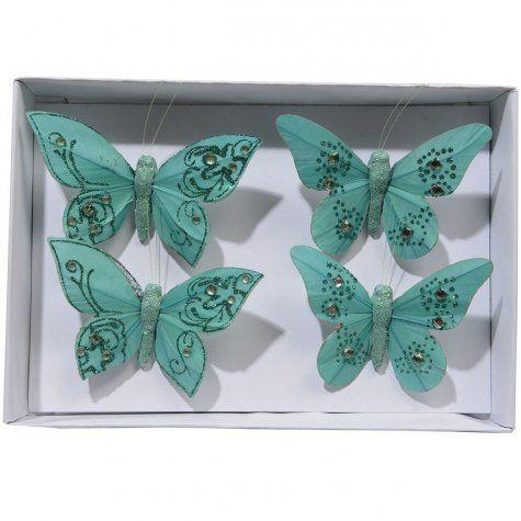 Lot de 4 papillons SPHINX EMERAUDE sur Izaneo