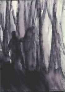 """Andrea Chiesi """"Touch Me X"""", 1997, inchiostro su carta su tela, cm.18x24"""