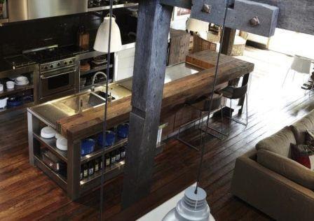 Cocinas con estilo industrial http://acestudioreformasmadrid.com/disenos-de-cocinas/