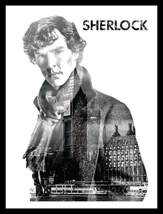 Sherlock Benedict Cumberbatch Movie Poster 11 x 17 by FADEGrafix