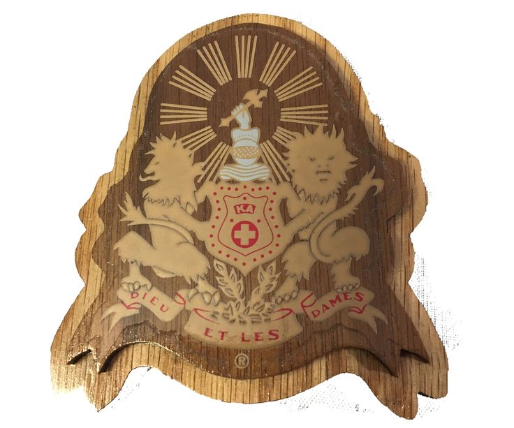 Kappa Alpha Fraternity Raised Wood Crest - Brothers and Sisters' Greek Store