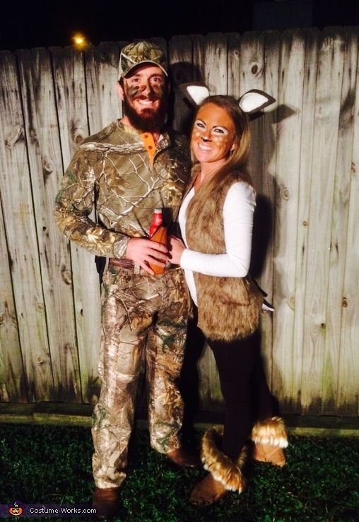 Katie: My boyfriend Bobby and I are wearing these costumes. He is an avid hunter and since it is hunting season we thought it would be fun to do a hunting...