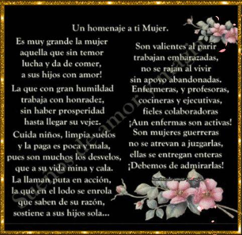 SUEÑOS DE AMOR Y MAGIA: Un homenaje a ti Mujer