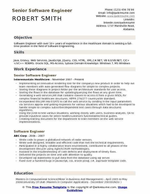 10 Years Experience Software Engineer Resume Softwareengineer 10 Years Experience Software Engineer Business Analyst Resume Business Analyst Software Engineer