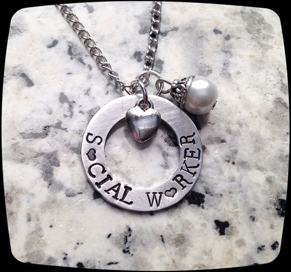 Social Worker Gift Necklace Professional by ThatKindaGirl