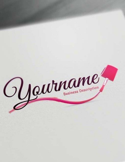 Create Your Own Nail Salon Logo Free With Nails Logo Maker Diseo