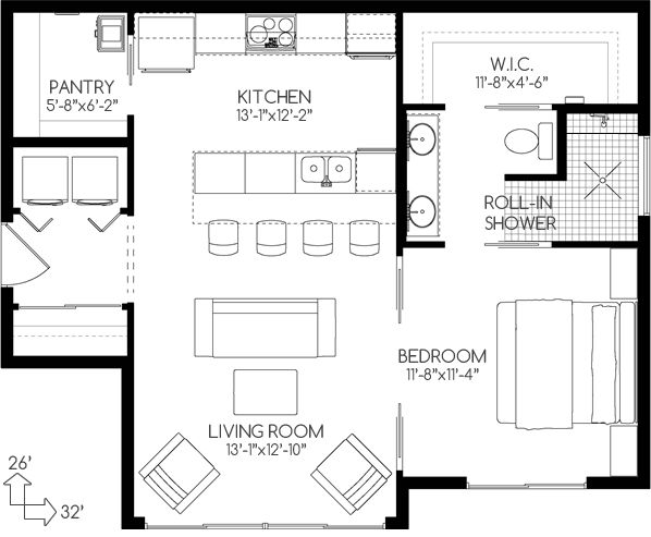 empty nesters house plan no580762 house plans by westhomeplannerscom pantry - Floor Plans For Small Houses