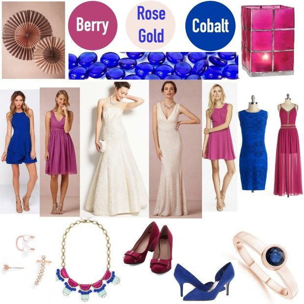 Get Inspired: Punch It Up with Berry, Cobalt Blue and Rose Gold