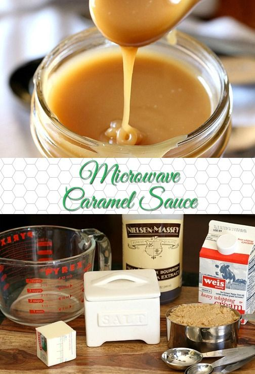 This Easy Microwave Caramel Sauce can be whipped up in just minutes…I actually made mine Salted Caramel Sauce by adding a pinch of salt at the end!